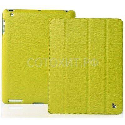 Чехол Jisoncase для iPad 2 The new iPad 3 зеленый с логотипом.