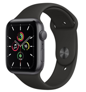 Apple Watch SE GPS 44mm Aluminum Case with Sport Band Black MYDT2RU/A