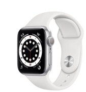 Apple Watch Series 6 GPS 40mm Aluminum Case with Sport Band White MG283RU/A