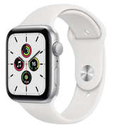 Apple Watch SE GPS 44mm Aluminum Case with Sport Band White MYDQ2RU/A