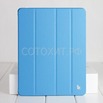 Чехол JisonCase Premium Leather Case для iPad Air - Голубой