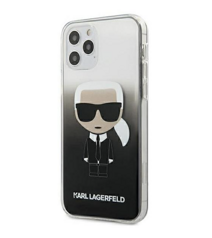 Чехол Karl Lagerfeld Ikonik Karl Hard для iPhone 12 / iPhone 12 Pro - Gradient Black (KLHCP12MTRDFKBK)