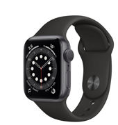 Apple Watch Series 6 GPS 40mm Aluminum Case with Sport Band Black MG133