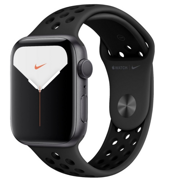 Apple Watch Series 5 GPS 44mm Space Gray Aluminum Case with Anthracite/Black Nike Sport Band (Спортивный ремешок Nike «антрацитовый / чёрный») MX3W2RU/A