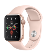 Apple Watch Series 5 GPS 40mm Gold Aluminum Case with Pink Sand Sport Band (Спортивный ремешок цвета Розовый песок) MWV72RU/A