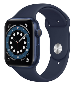 Apple Watch Series 6 GPS 44mm Aluminum Case with Sport Band Deep Navy M00J3