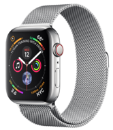 Apple Watch Series 4 GPS + Cellular 44mm Stainless Steel Case with Milanese Loop (Миланский сетчатый браслет)