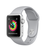 Apple Watch Series 3 38mm Silver Aluminum Case with Fog Sport Band (Спортивный ремешок дымчатого цвета) MQKU2