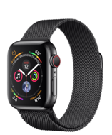 Apple Watch Series 4 GPS + Cellular 40mm Space Black Stainless Steel Case with Space Black Milanese Loop (Миланский сетчатый браслет цвета «серый космос»)