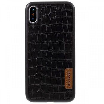 Чехол G-CASE Dark Series для iPhone Xs Max - Black / Crocodile
