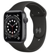 Apple Watch Series 6 GPS 44mm Aluminum Case with Sport Band Black M00H3RU/A
