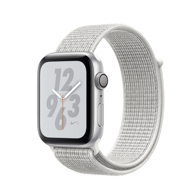 Apple Watch Nike+ Series 4 GPS 40mm Silver Aluminum Case with Summit White Nike Sport Loop (Спортивный браслет Nike цвета Снежная вершина) MU7F2