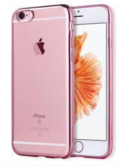 Силиконовый чехол iLike TPU Silicone Clear Case для iPhone 7/8 Plus - Rose Gold