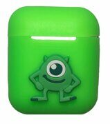 Силиконовый чехол iLike Toys для Apple AirPods - Green / Mike Wazowski
