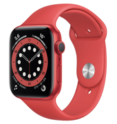 Apple Watch Series 6 GPS 44mm Aluminum Case with Sport Band (PRODUCT)RED M00M3