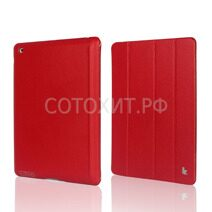 Чехол JisonCase Premium Leather Case для iPad Air - Красный