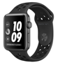 Apple Watch Nike+ Series 3 38mm Space Grey Aluminum Case with Nike Sport Band - Anthracite / Black (Спортивный ремешок Nike цвета «антрацитовый / черный») MTF12
