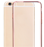 Силиконовый чехол HOCO Ultra Thin Transparent TPU Cover Case для iPhone 6 / 6s - Rose Gold