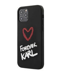 Чехол Karl Lagerfeld Forever Karl для iPhone 12 Pro Max - Black (KLHCP12LCFNRCPI)