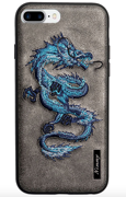 Чехол Nimmy Fantasy Denim для iPhone 7 Plus / 8 Plus - Дракон (серый)