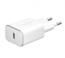Сетевое зарядное устройство Deppa USB Type-C Wall Charger Power Delivery 20W - White