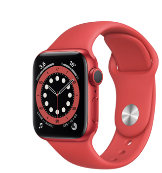 Apple Watch Series 6 GPS 40mm Aluminum Case with Sport Band (PRODUCT)RED M00A3