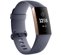 Фитнес-браслет Fitbit Charge 3 Advanced Fitness Tracker - Blue Gray / Rose Gold Aluminum