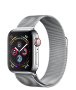 Apple Watch Series 4 GPS + Cellular 40mm Stainless Steel Case with Milanese Loop (Миланский сетчатый браслет) MTUM2